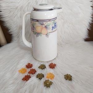 Vintage Mikasa Garden Carafe Kettle Thermos